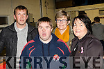 Ring side seats<br /> ---------------------<br /> Enjoying the Tralee boxing tournament, at the clubs gym, Monavalley, Tralee were L-R Tom, Michael&amp;Lisa McElligott with Marian Sayers, all Ballybunion.