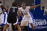Junior guard, Maegan Conwright, guarding junior guard, Tayler Tremblay, during the first half of the UK vs. High Point basketball game at Memorial Coliseum on Saturday, Nov. 17, 2012. Photo by Adam Chaffins | Staff