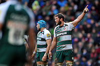 Dom Barrow of Leicester Tigers looks on. Aviva Premiership match, between Leicester Tigers and Sale Sharks on February 6, 2016 at Welford Road in Leicester, England. Photo by: Patrick Khachfe / JMP