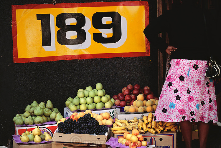 Fruit for sale in downtown Johannesburg, South Africa. Material World Project.