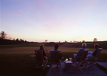 Enjoying the sunset with martinis and cigars at the Lodge at Bandon Dunes Golf Resort, Bandon, OR