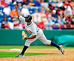 9 March 2010: Detroit Tigers' pitcher Alfredo Figaro on the mound during a Spring Training game against the Washington Nationals at Space Coast Stadium in Viera, Florida. The Tigers defeated the Nationals 9-4 in Grapefruit League action. Mandatory Credit: Ed Wolfstein Photo