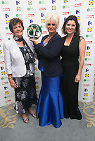 03/06/2014  <br /> (L to r)   Fiona Doyle who recieved the Special Recognition  award from Philomena Lee,         Collette Fitzpatrick <br /> during the Pride of Ireland awards at the Mansion House, Dublin.<br /> Photo: Gareth Chaney Collins