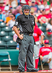 11 March 2016: MLB Umpire works behind the plate during a Spring Training pre-season game between the Philadelphia Phillies and the Atlanta Braves at Champion Stadium in the ESPN Wide World of Sports Complex in Kissimmee, Florida. The Phillies defeated the Braves 9-2 in Grapefruit League play. Mandatory Credit: Ed Wolfstein Photo *** RAW (NEF) Image File Available ***