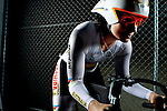 Cycling Anna Mears triple world champion at Dunc Gray Veledrome portrait..Pictures Steve Christo