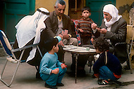 March 1982, Lebanon, happy familly scenes in the streets of Shatila camp.