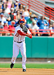 6 March 2011: Washington Nationals' infielder Alex Cora in action during a Spring Training game against the Atlanta Braves at Space Coast Stadium in Viera, Florida. The Braves shut out the Nationals 5-0 in Grapefruit League action. Mandatory Credit: Ed Wolfstein Photo