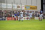 Torjubel von Daniel Reule und Matteo Monetta (beide SVW Mannheim) in der Oberliga 2007/08 VfR Mannheim vs. SV Waldhof/Mannheim. Foto © Rhein-Neckar-Picture *** Foto ist honorarpflichtig! *** Auf Anfrage in höherer Qualität/Auflösung. Belegexemplar erbeten.
