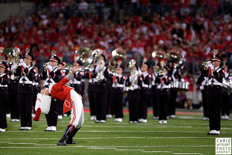 12 September 2009:  Football -- The Ohio State marching band performs during halftime of their game against USC at Ohio Stadium in Columbus.  USC won 18-15.  Photo by Christopher McGuire.