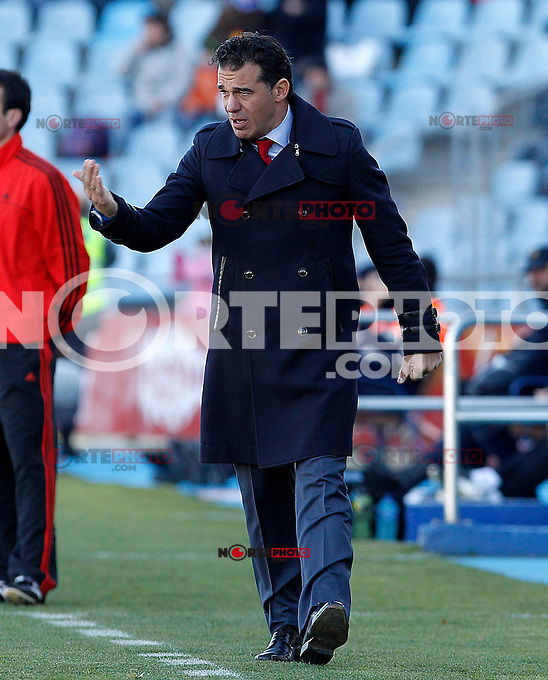 Getafe's coach Luis Garcia during La Liga match.December 01,2012. (ALTERPHOTOS/Acero) ©/NortePhoto