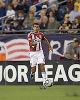 Chivas USA defender Jonathan Bornstein (13) controls the ball. Chivas USA defeated the New England Revolution, 4-0, at Gillette Stadium on May 5, 2010.