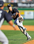 12 March 2011: New York Yankees' infielder Doug Bernier in action during a Spring Training game against the Washington Nationals at Space Coast Stadium in Viera, Florida. The Nationals edged out the Yankees 6-5 in Grapefruit League action. Mandatory Credit: Ed Wolfstein Photo