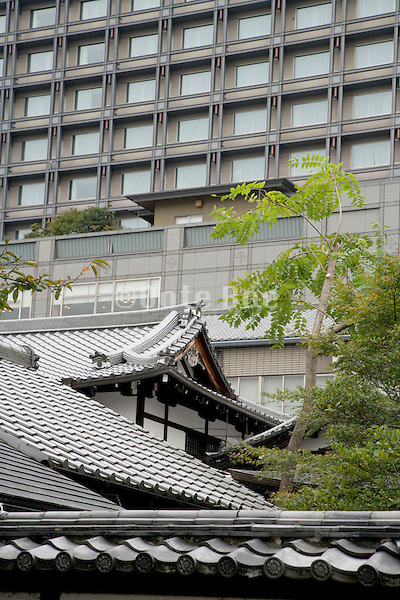 old classic style and new  modern architecture in Japan Kyoto