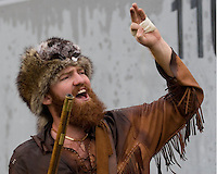 11 November 2006: West Virginia Mountaineer mascot..The West Virginia Mountaineers defeated the Cincinnati Bearcats 42-24 on November 11, 2006 at Mountaineer Field, Morgantown, West Virginia..
