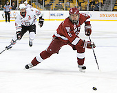 Ryan Grimshaw (Harvard - 6) - The Northeastern University Huskies defeated the Harvard University Crimson 4-0 in their Beanpot opener on Monday, February 7, 2011, at TD Garden in Boston, Massachusetts.