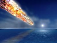 comet over the ocean