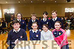 Pictured at the Tralee Credit Union Schools Quiz Brandon hotel on Sunday were Ruth O'Neill, Ryan Crean, Jack O' Donoghue, Aoife Moynihan, Connie Feeney, Andy Rogers Mossie Brennan and Anna Lynch