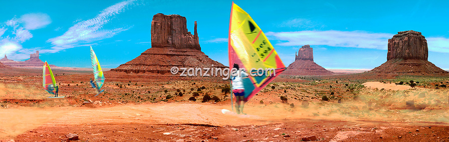 Humor sailboard in Historic Monument Valley CGI Backgrounds, ,Beautiful Background