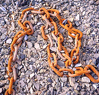 RUSTED CHAIN<br /> Oxide Of Iron Formed By Corrosion<br /> An electrochemical reaction. In moist conditions iron is rapidly oxidized by oxygen to form rust, a mixture of iron oxides.
