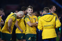Drew Mitchell of Australia looks dejected after the match. Rugby World Cup Final between New Zealand and Australia on October 31, 2015 at Twickenham Stadium in London, England. Photo by: Patrick Khachfe / Onside Images