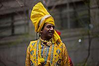 A reveller attends the Holi Hai festival organized by Indian community in New York City March 31, 2013. Photo by Eduardo Munoz Alvarez / VIEWpress.