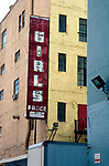 Girls Dance sign from another era in downtwon Los Angeles, CA