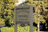 New Gloucester Town hall sign, Maine