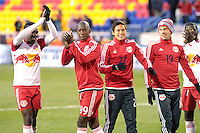 HARRISON, NJ - Sunday March 22, 2015: The New York Red Bulls take on DC United in their home opener at Red Bull Arena in 20th season of regular MLS play.