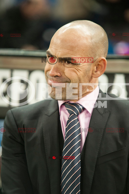Rayo Vallecano&acute;s Paco Jemez during 2014-15 La Liga match between Atletico de Madrid and Rayo Vallecano at Vicente Calderon stadium in Madrid, Spain. January 24, 2015. (ALTERPHOTOS/Luis Fernandez) /NortePhoto<br />