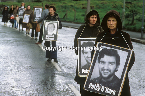 Ireland The Troubles. Belfast Hunger Strike March 1981. Patsy O'Hara (11 July 1957 - 21 May 1981 was an Irish republican hunger striker and member of the Irish National Liberation Army (INLA).