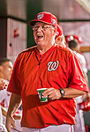22 May 2015: Washington Nationals pitching coach Steve McCatty walks the dugout during a game against the Philadelphia Phillies at Nationals Park in Washington, DC. The Nationals defeated the Phillies 2-1 in the first game of their 3-game weekend series. Mandatory Credit: Ed Wolfstein Photo *** RAW (NEF) Image File Available ***