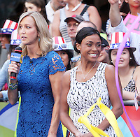 NEW YORK, NY-August 08: Dominique Dawes Olympic Gold winner for gymnastics 1966 at Good Morning America to talk about current RIO Olympic gymnastics in New York. NY August 08, 2016. Credit:RW/MediaPunch