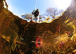 local looking into the water - Okavango delta