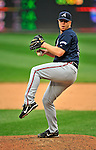 12 April 2008: Atlanta Braves' pitcher Blaine Boyer in action against the Washington Nationals at Nationals Park, in Washington, DC. The Braves defeated the Nationals 10-2...Mandatory Photo Credit: Ed Wolfstein Photo