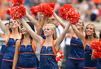 Sept. 3, 2011 - Charlottesville, Virginia - USA; Virginia Cavaliers dancers cheer during an NCAA football game against William & Mary at Scott Stadium. Virginia won 40-3. (Credit Image: © Andrew Shurtleff