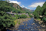 Europe, United Kingdom, Wales, Snowdonia, Beddgelert, a village with a fabled past in the heart of Snowdonia.