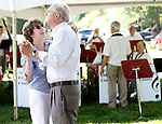 Southbury, CT- 14 June 2015-061415CM02- Suzanne and Ken Huff of Souhtbury dance to the sounds of The Fairfield Counts during the annual  Southbury Strawberry Festival at the United Church of Christ in Southbury on Sunday.  The event featured homemade strawberry shortcake, chocolate-covered strawberries, barbecued food, activities for children, pony rides, live music and dancing.  Christopher Massa Republican-American