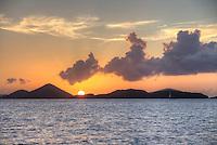 Sunset from St. John<br /> U.S. Virgin Islands