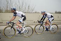 John Degenkolb (DEU/Giant-Shimano) safely behind teammate Roy Curvers (NLD/Giant-Shimano)<br /> <br /> Gent-Wevelgem 2014