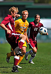 18 September 2011: University of Vermont Catamount Defender Scott Kisling, a Sophomore from Colorado Springs, CO, in action against the Harvard University Crimson at Centennial Field in Burlington, Vermont. The Catamounts shut out the visiting Crimson 1-0, earning their 3rd straight victory of the 2011 season. Mandatory Credit: Ed Wolfstein Photo