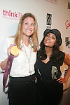 U.S. 2012 Olympic Gold Medalist Susan Francia and Rosario Dawson-Arrivals-Boy Meets Girl Forever Young Fashion Show Held at Style 360, NY  9/12/12