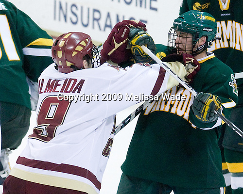 Barry Almeida (BC - 9), Justin Milo (Vermont - 7) - The University of Vermont Catamounts defeated the Boston College Eagles 3-2 on Sunday, November 15, 2009, at Conte Forum in Chestnut Hill, Massachusetts.