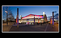 Wembley Arena (Built 1934 - Renovated 2005 - 2006) - Borough of Brent, London - 1st March 2007 -<br /> <br /> Wembley Arena with 12,500 seats is London's second largest indoor arena. Since reopening in 2006 a &quot;Square of Fame&quot; area has been created in front of the arena.