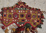 ATK-145  EXQUISITE RARE CEREMONIAL BULLOCK HEADDRESS PAIR