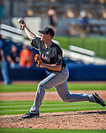 1 March 2017: Miami Marlins pitcher Brian Ellington on the mound during Spring Training action against the Houston Astros at the Ballpark of the Palm Beaches in West Palm Beach, Florida. The Marlins defeated the Astros 9-5 in Grapefruit League play. Mandatory Credit: Ed Wolfstein Photo *** RAW (NEF) Image File Available ***