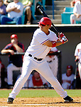 5 March 2006: Jose Vidro, second baseman for the Washington Nationals, at bat during a Spring Training game against the Baltimore Orioles. The Nationals defeated the Orioles 10-6 at Space Coast Stadium, in Viera Florida...Mandatory Photo Credit: Ed Wolfstein..