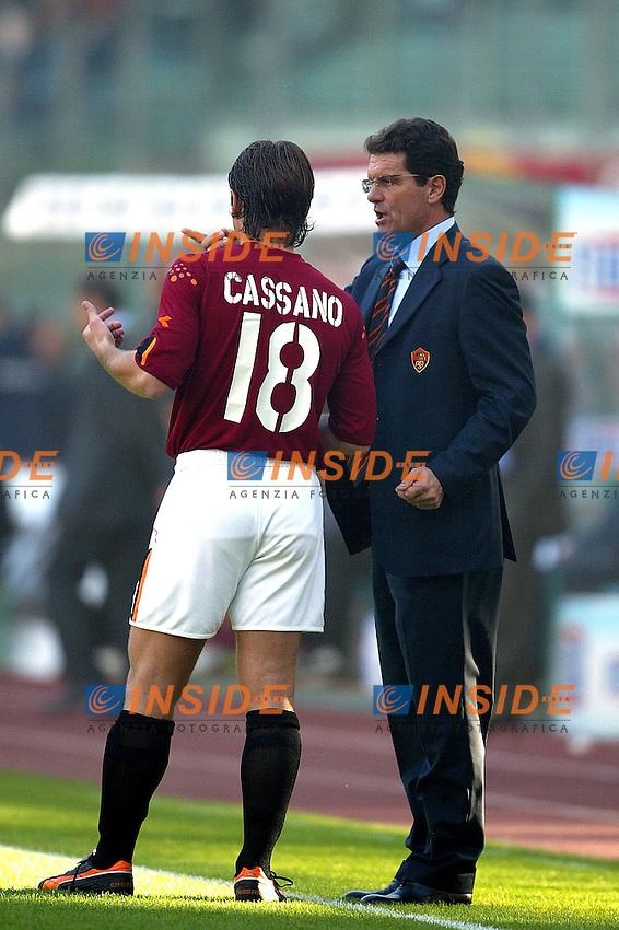 Roma 2/11/2003 <br /> Roma Reggina 2-0 <br /> Fabio Capello e Antonio Cassano  (Roma)<br /> Foto Andrea Staccioli Insidefoto