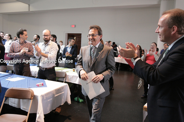 May 26, 2013 File Photo - <br /> Richard Bergeron, leader projet Montreal