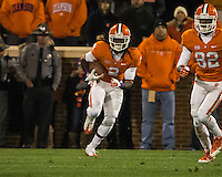 The eighth ranked Clemson Tigers defeat the Georgia Tech Yellow Jackets at Death Valley 55-31 in an ACC matchup.  Clemson Tigers wide receiver Sammy Watkins (2)
