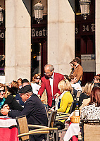 Outdoor cafe in the Plaza Mayor, Madrid, Spain